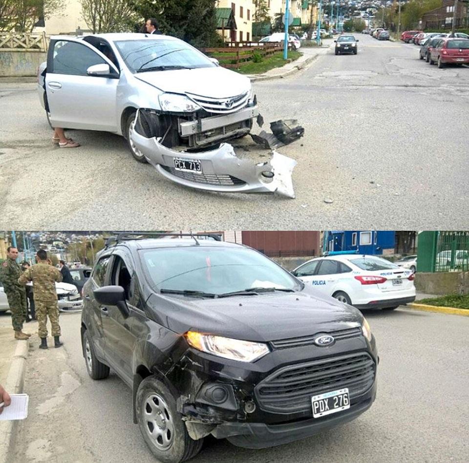 Choque con lesionados en Ushuaia