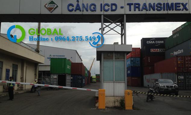 Lắp đặt barie tại cảng ICD Transimex