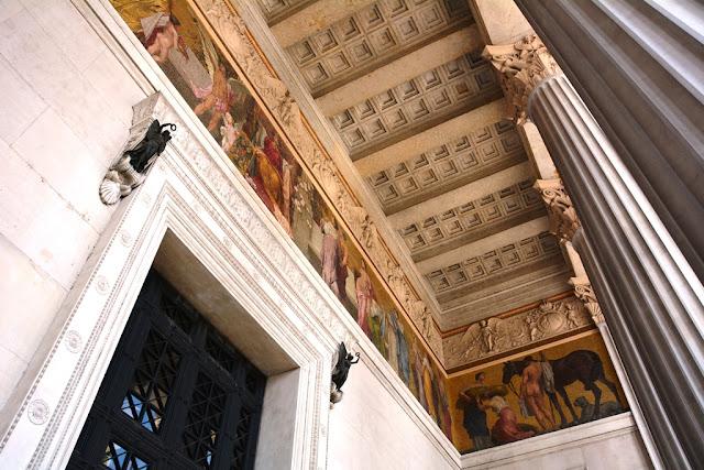 Parliament Vienna wooden ceiling