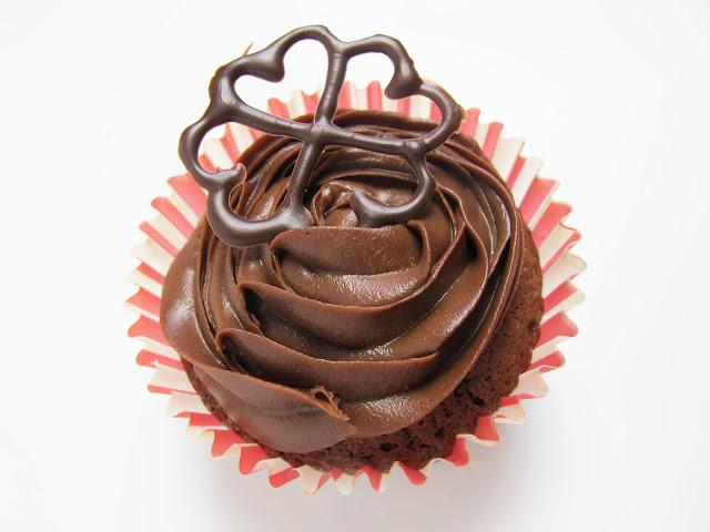 Cupcakes chocolat glaçage au chocolat