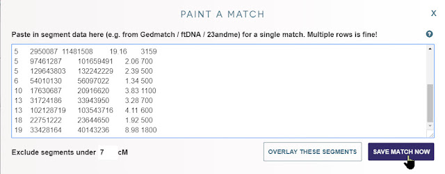 save DNA Painter match