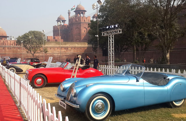 6th 21 Gun Salute International Vintage Car Rally and Concours Show in at Red Fort