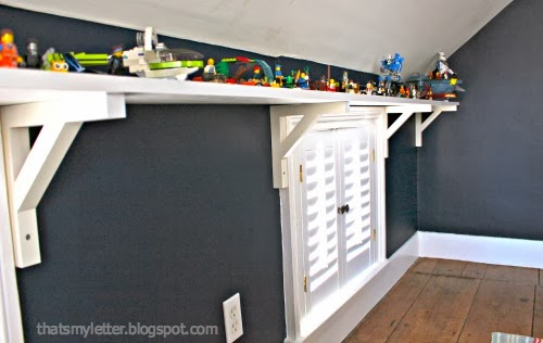 shelf brackets above shutters