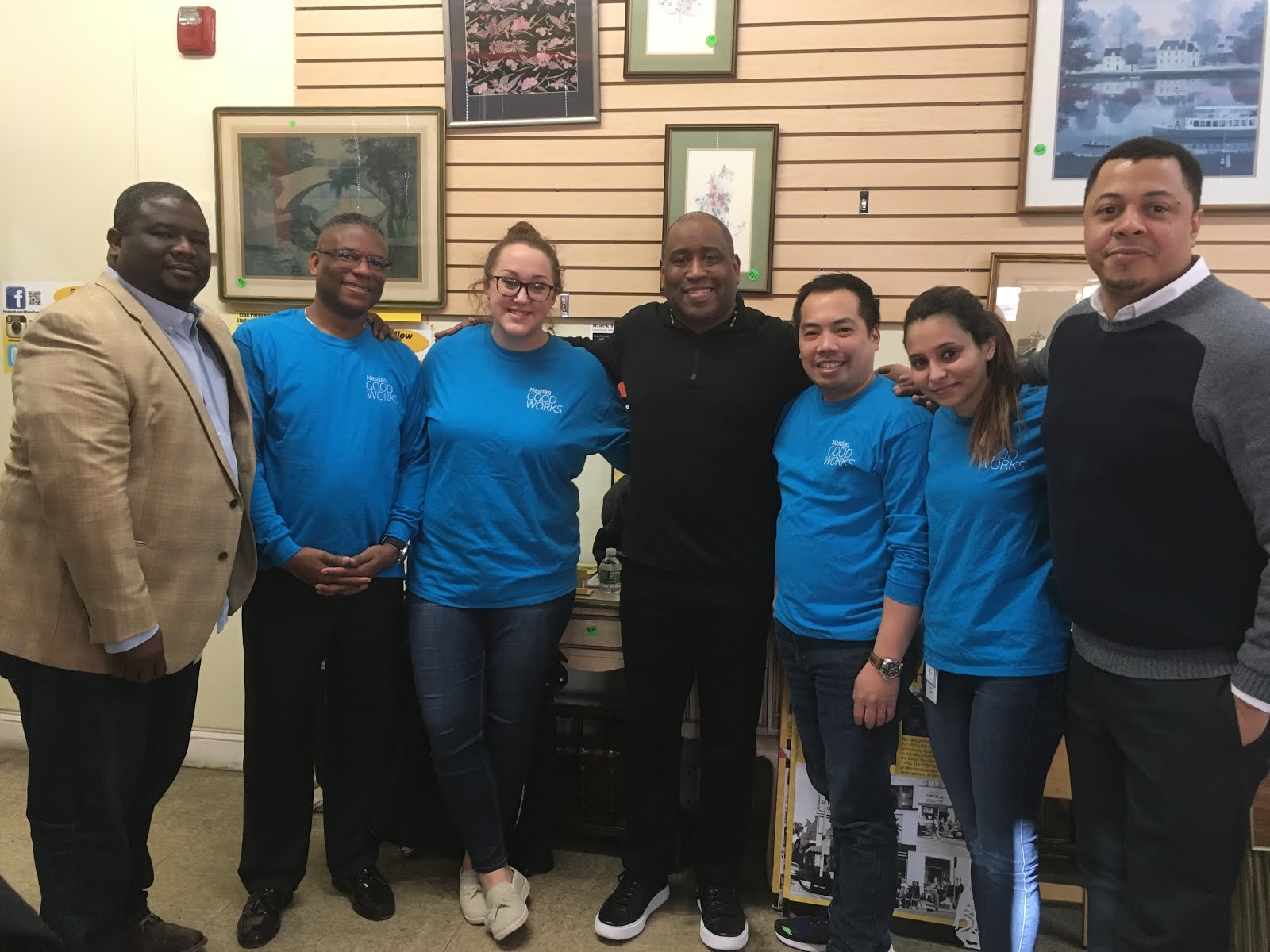 Thank you to the team from NASDAQ who volunteered at Uhuru for African History Month