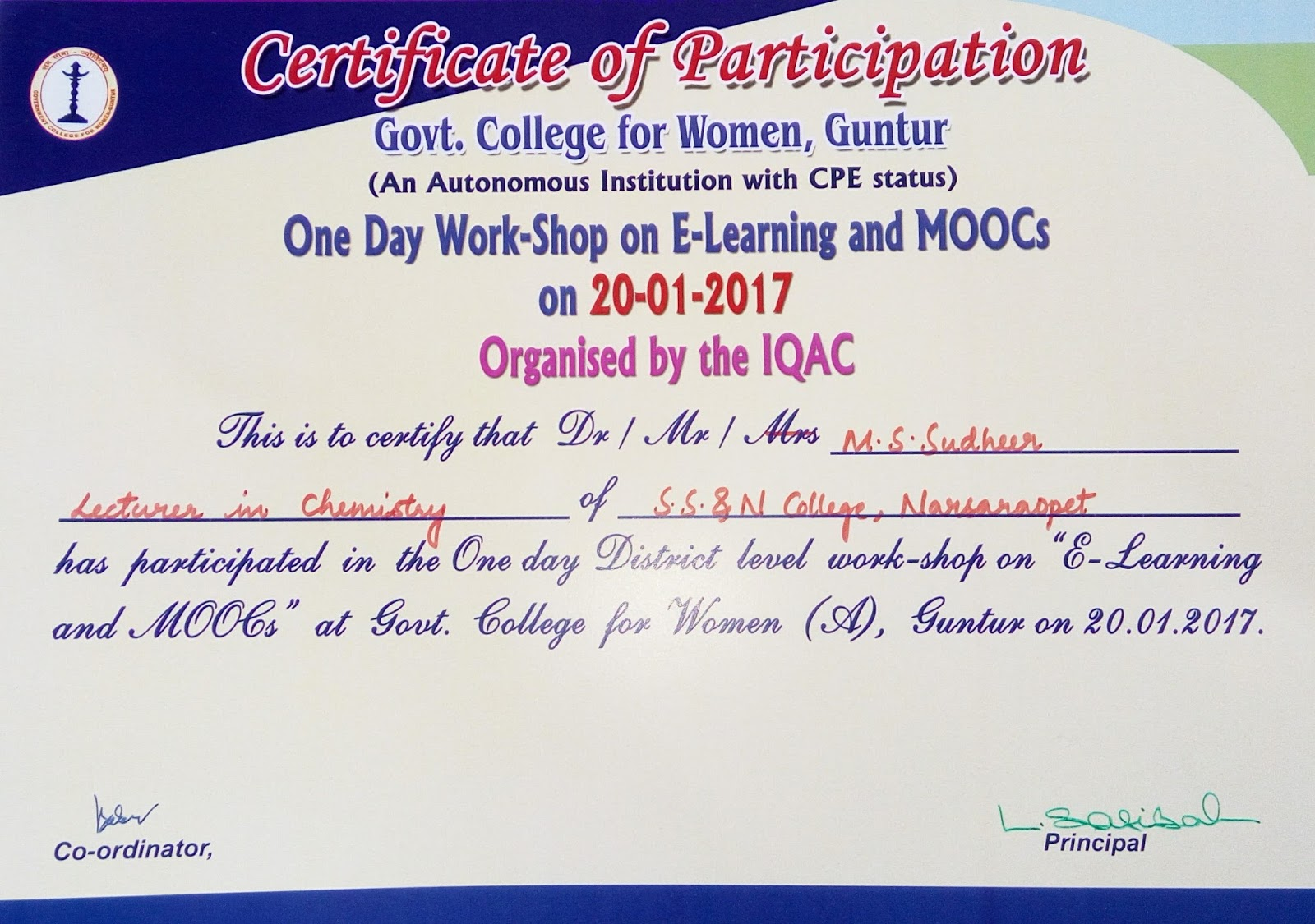 Participation certificate participation certificate for Template for certificate of participation in workshop