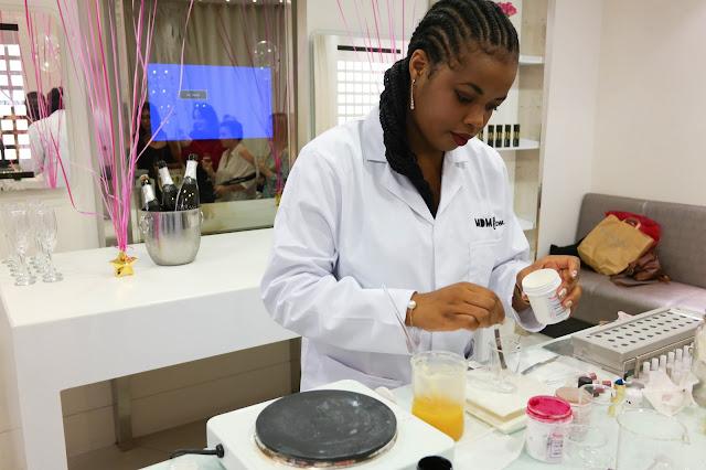 Florence Adepoju MDMFlow lipstick brand event