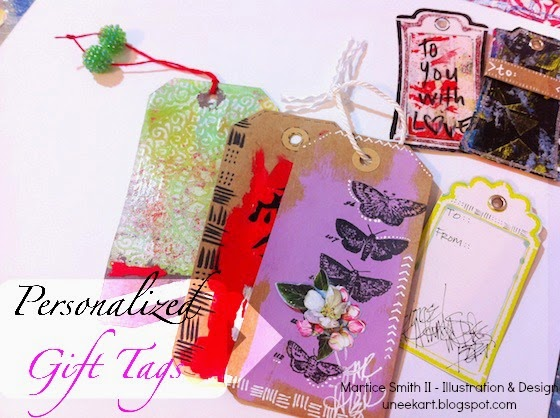 Personalized Gift Tags - On the Gelli Plate • Tutorial by Martice Smith II
