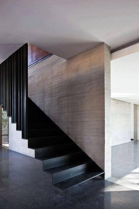 11 contoh inspirasi desain tangga minimalis dengan pijakan pipih