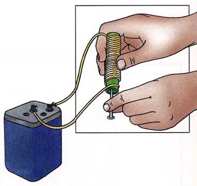 Electromagnet experiment for kids