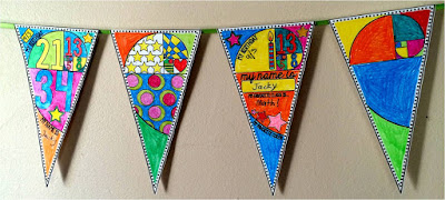 Golden Spiral Math pennant for Back to School