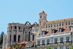 Lisbon's Praca De Dom Pedro and Convento Do Carmo