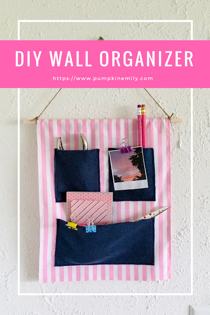 DIY Fabric Wall Organizer with Pockets