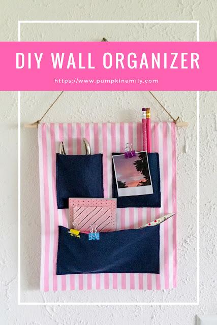 DIY Fabric Wall Organizer with Pockets  Pumpkin Emily