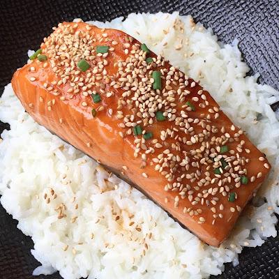 Pavé de saumon à la sauce teriyaki
