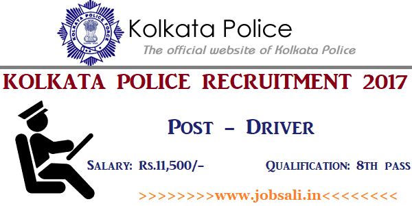 Kolkata Police Driver Vacancy, Driver jobs in West Bengal, Govt jobs for 8th pass