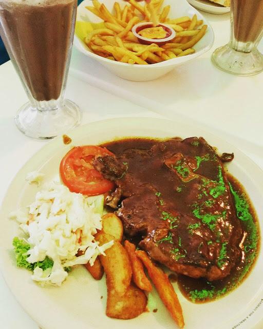 Lamb Chop sedap di Din's Cafe Sungai Besar