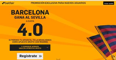 betfair Barcelona gana Sevilla supercuota 4 Liga 28 febrero