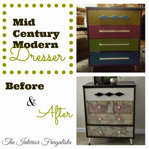 MCM Dresser Makeover Before and After