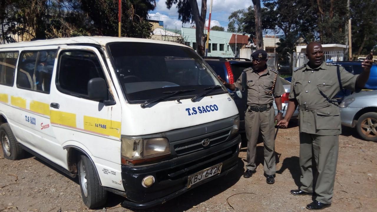 Image result for matatu police arrest