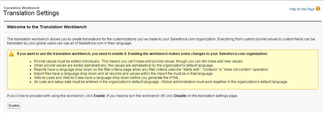 Amit Salesforce   Salesforce Tutorial: Translation Workbench