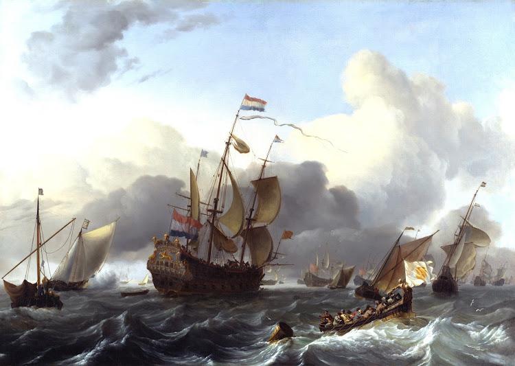 Ludolf Bakhuizen - The Eendracht and a Fleet of Dutch Men-of-War 1670-75