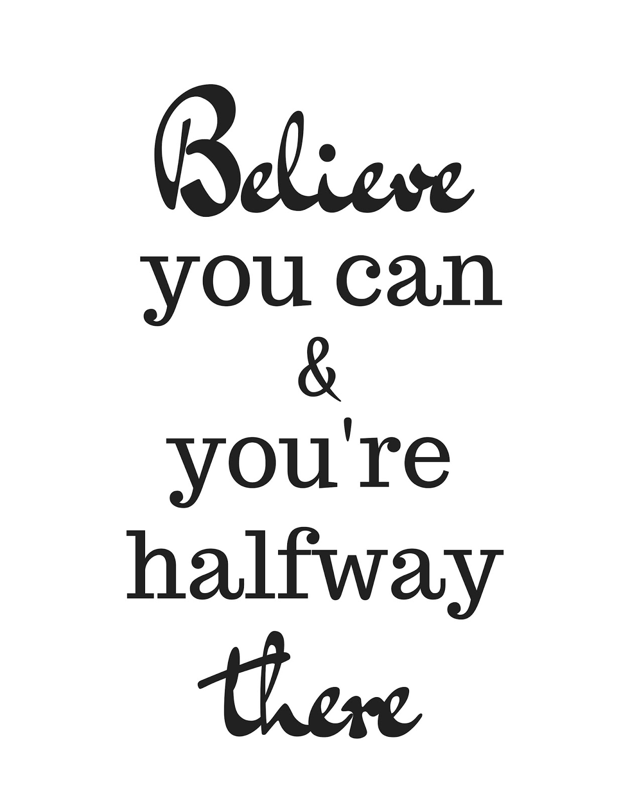 The Prudent Pantry: Believe you can (printable + coloring