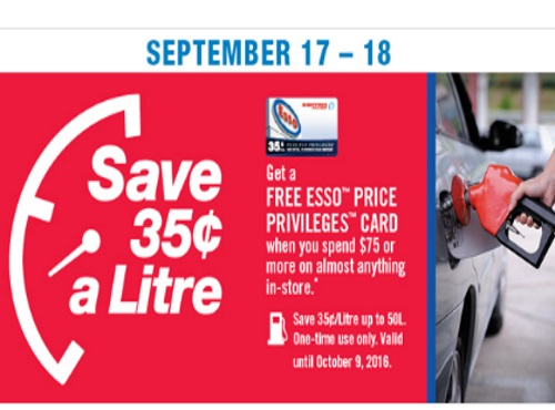Shoppers Drug Mart Free Esso Price Privileges Card