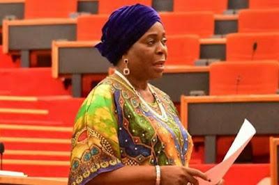 Brilliant Female Senator, Olujimi Takes Over Akpabio's Seat As NASS Resumes
