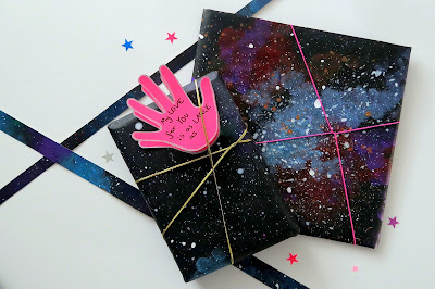 GALAXY wrapping paper & love card