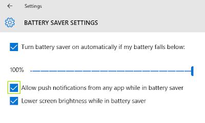 Sistem software baterai pada Windows 10