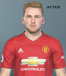 PES 2019 Faces Luke Shaw by TPS
