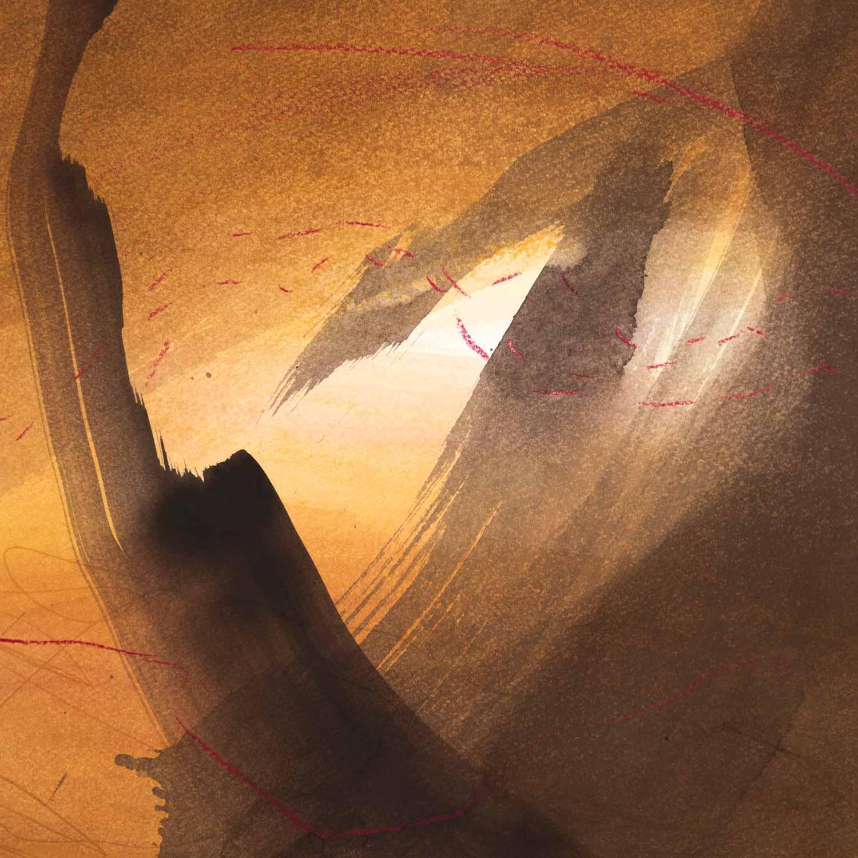 30 x 30 cm aquarelle et crayons sur papier 27 septembre 13