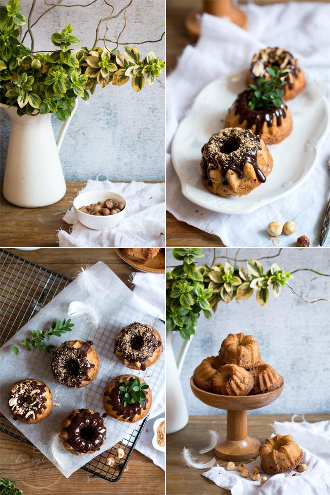 babeczki orzechowe z orzechami laskowymi i polewą czekoladową