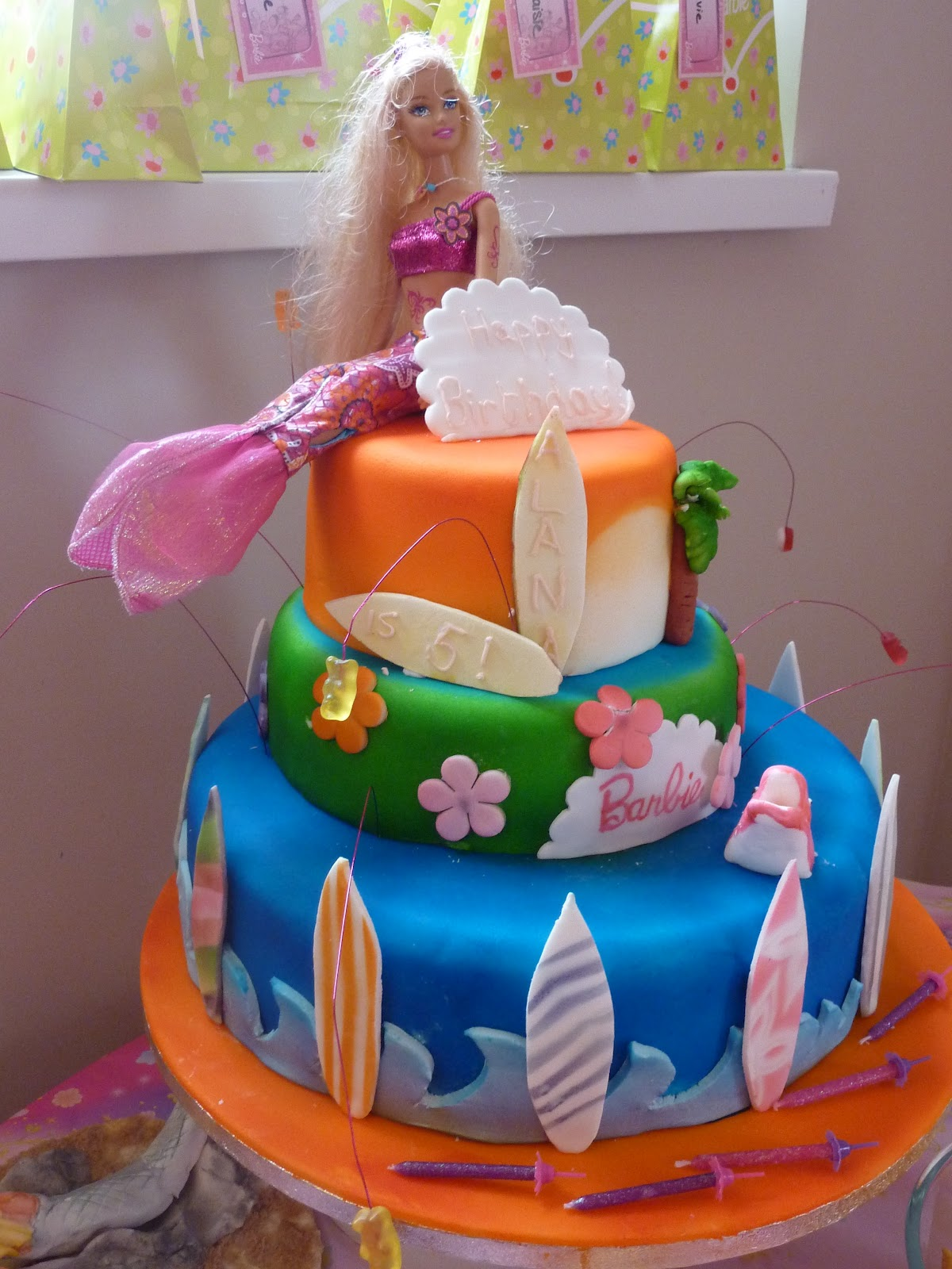 Scribbles Jots And Musings The Barbie Birthday Cake