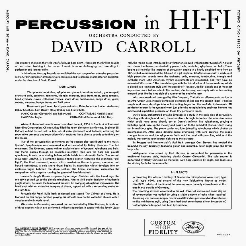 Fuji Puzzle Box: David Carroll: Percussion in Hi-Fi (mono