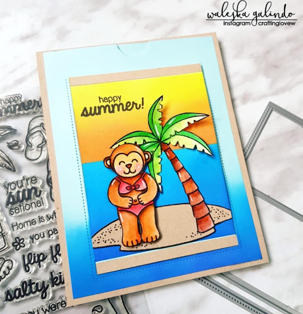 Sunny Studio Stamps: Island Getaway Customer Card Share by Waleska Galindo