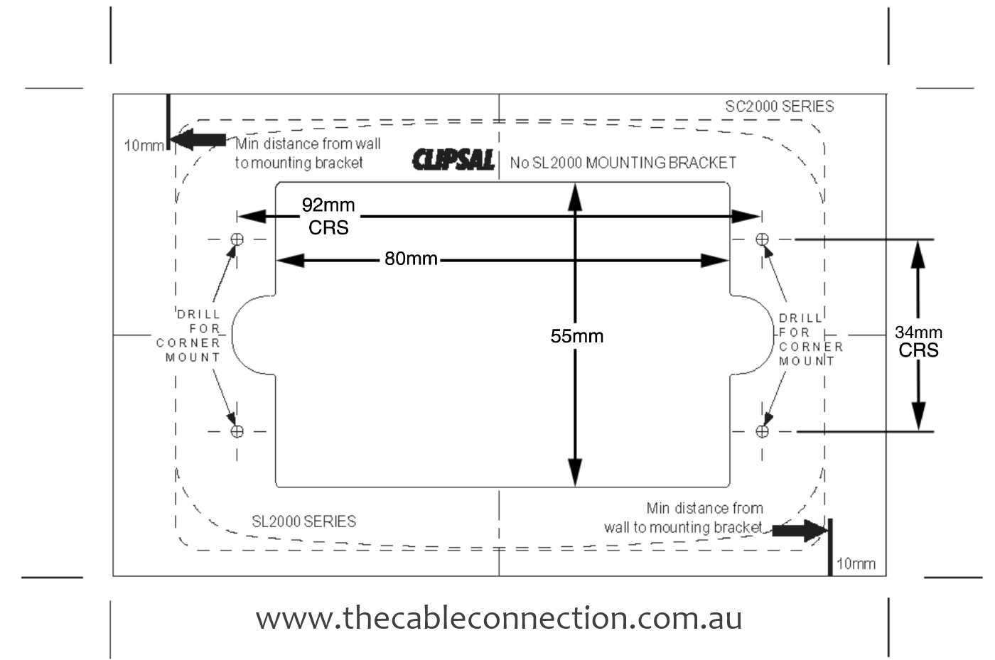 The Cable Connection How To Mounting Template For A