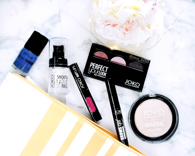 Joko Make-up goodies | Eva Luna - Cosmetics - Smooth Your Face - JOKO Matt Your Lips 61 Pink Passion - Brow Gel Espresso - Joko Mineral Baked Powder Translucent - Eyeshadow trio Perfect Your Look 301 - review - swatches
