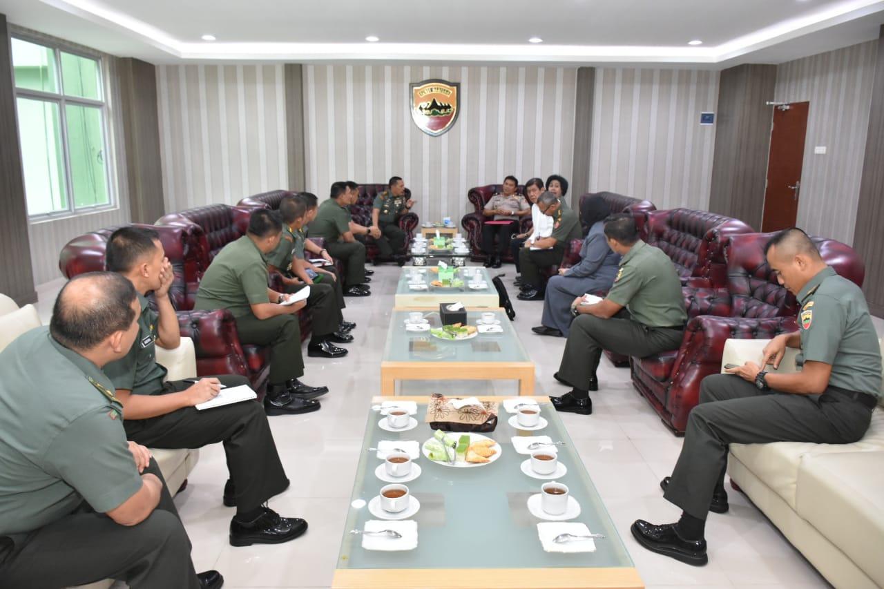 Pangdam I/BB menerima audiensi Ketua Tim Lemhannas RI Brigjen Pol Drs Mulyanto