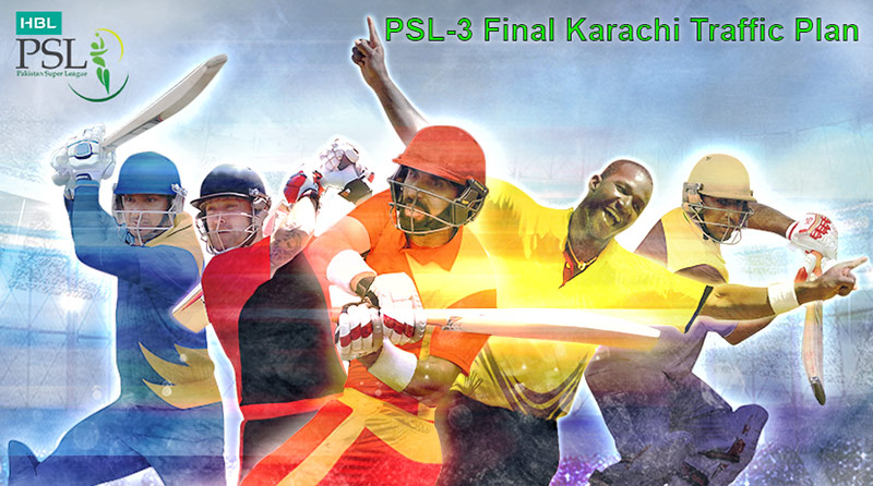 HBL Update: HBL PSL 3 Final Karachi Traffic Plan Issued By DIG Traffic
