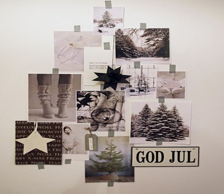 Árvore de Natal feita de fotos