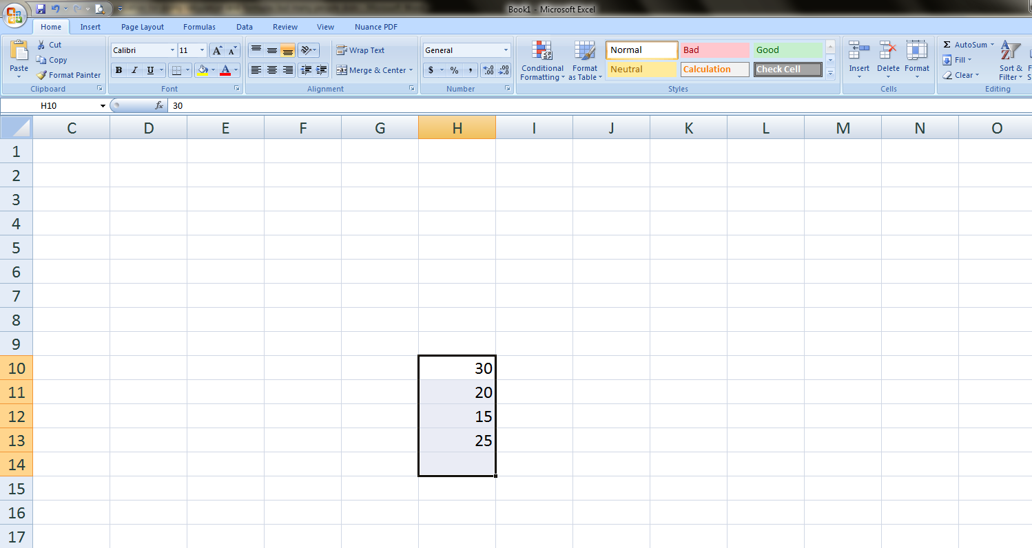 Formula To Calculate Sum In Ms Excel