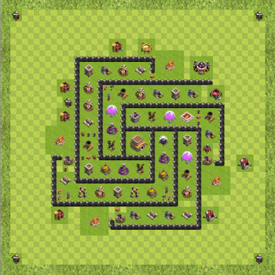 War Base Town Hall Level 8 By Akshaypraveen (def TH 8 Layout)
