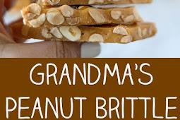 The Best Grandma's Peanut Brittle Recipe #brittle #peanut #dessert #ketodessert #easydessert #whole30