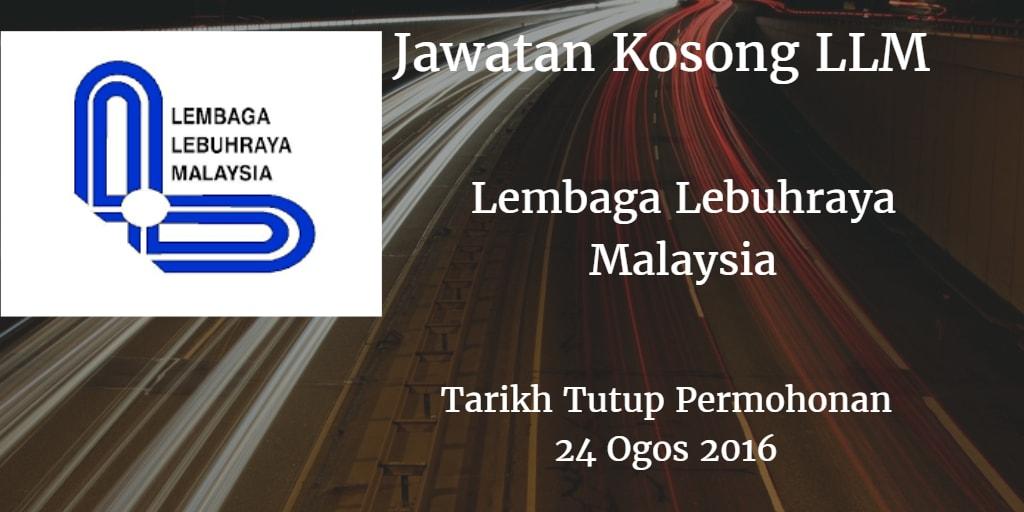 Jawatan Kosong LLM 24 Ogos 2016