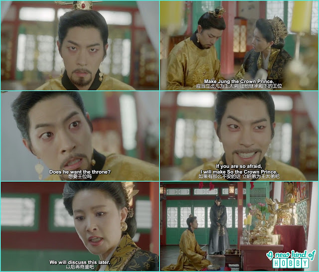 king yo become half mental after killing his brothers wang moo and wang Eun and spend most of his time at the temple - Moon Lovers Scarlet Heart Ryeo - Episode 16 Review (Eng Sub)