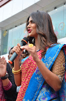 Puja Hegde looks stunning in Red saree at launch of Anutex shopping mall ~ Celebrities Galleries 130.JPG