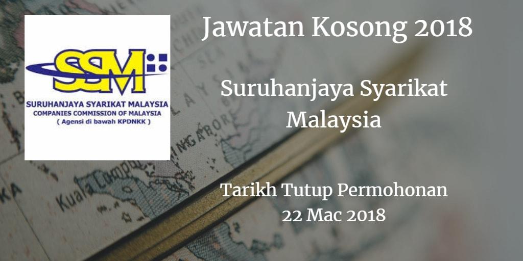 Jawatan Kosong SSM 22 Mac 2018