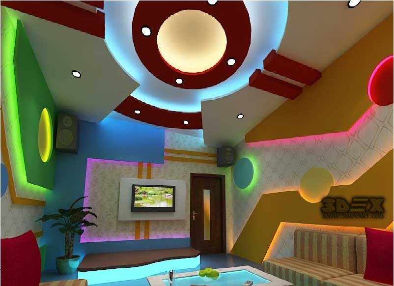 New pop false ceiling designs 2018 pop roof design for for Interior design for living room roof