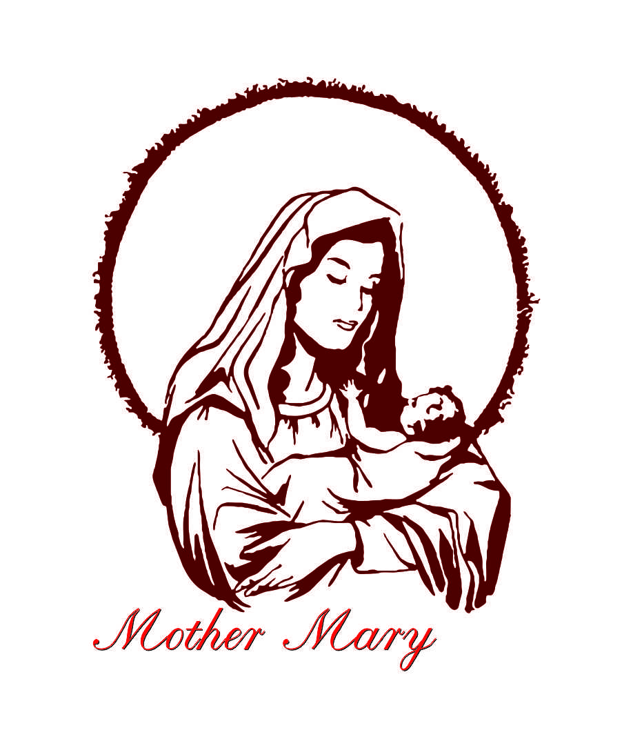 clipart of mother mary - photo #33